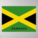 Bandera jamaicana con las banderas del mundo de la póster