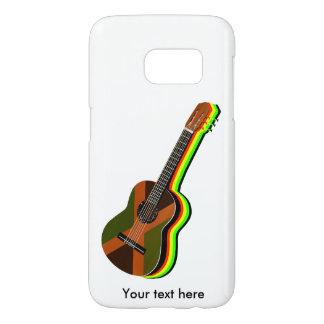 Bandera jamaicana de la guitarra del reggae de funda samsung galaxy s7