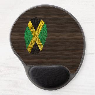 Bandera jamaicana de la huella dactilar del tacto alfombrilla de ratón con gel