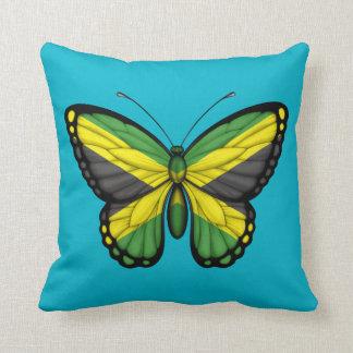Bandera jamaicana de la mariposa almohadas