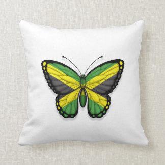 Bandera jamaicana de la mariposa cojines