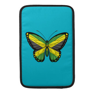 Bandera jamaicana de la mariposa fundas MacBook