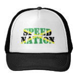 Bandera jamaicana de la nación de la velocidad gorros