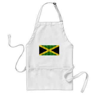Bandera jamaicana de madera delantales