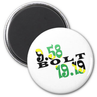 Bandera jamaicana de Usain Bolt Berlín 2 WR Imán Redondo 5 Cm