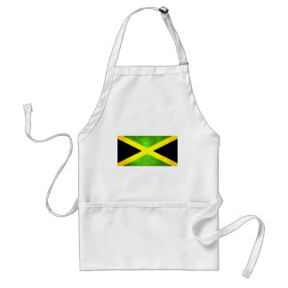 Bandera jamaicana del contraste colorido delantales