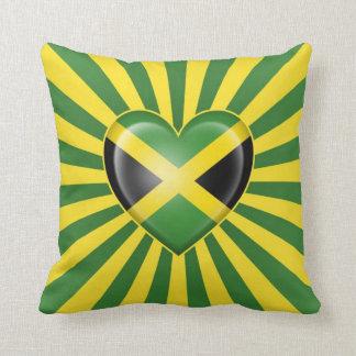 Bandera jamaicana del corazón con la explosión de  almohada