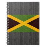 Bandera jamaicana del modelo del vintage libro de apuntes