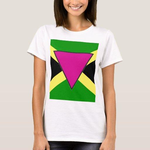 Bandera jamaicana del orgullo gay playera