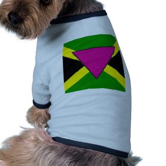 Bandera jamaicana del orgullo gay ropa perro