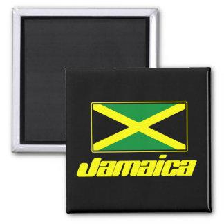 Bandera jamaicana imán cuadrado