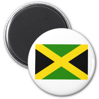 Bandera jamaicana imán redondo 5 cm