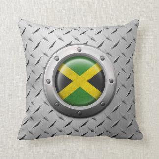 Bandera jamaicana industrial con el gráfico de ace cojin