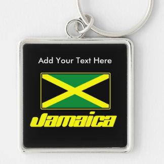 Bandera jamaicana, llavero de lujo personalizado