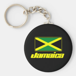 Bandera jamaicana llavero redondo tipo pin