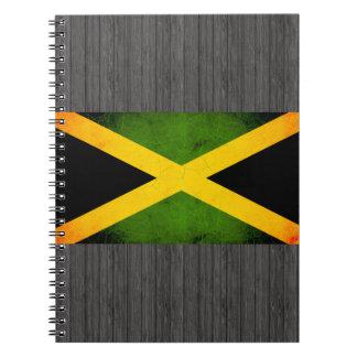 Bandera jamaicana nerviosa moderna libretas