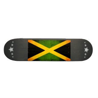Bandera jamaicana nerviosa moderna patines