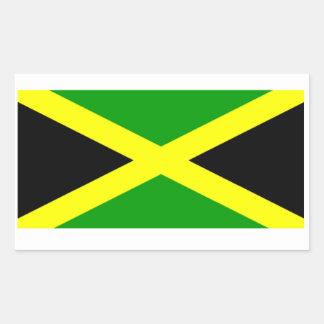 Bandera jamaicana pegatina rectangular