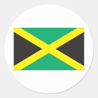 Bandera jamaicana pegatina redonda