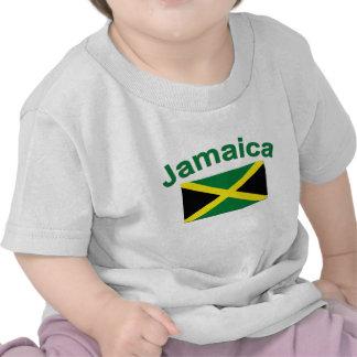 Bandera jamaicana camisetas