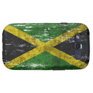 Bandera jamaicana rascada y llevada galaxy s3 cárcasa