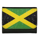 Bandera jamaicana rascada y rasguñada