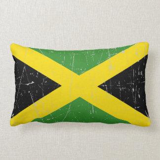 Bandera jamaicana rascada y rasguñada cojin