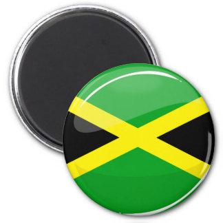Bandera jamaicana redonda brillante imán redondo 5 cm