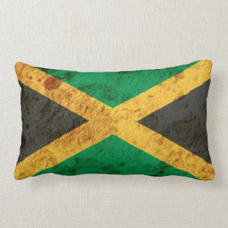 Bandera jamaicana rugosa cojines