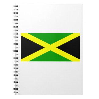 Bandera jamaicana spiral notebook