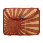 Bandera japonesa apenada fundas para macbooks