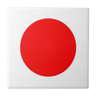 Bandera japonesa azulejo cuadrado pequeño