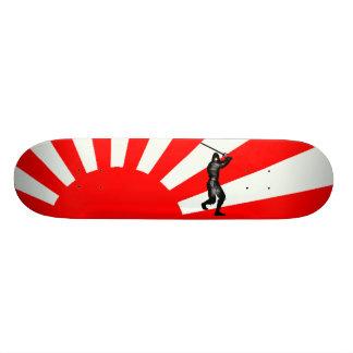Bandera japonesa con Ninja Patin
