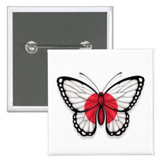 Bandera japonesa de la mariposa pins
