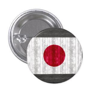 Bandera japonesa de madera pin