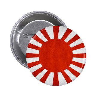 Bandera japonesa del Grunge Pin Redondo De 2 Pulgadas