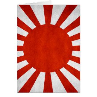 Bandera japonesa del Grunge Tarjeta De Felicitación