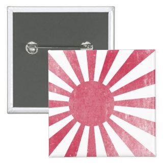 Bandera japonesa del sol naciente (apenada ligeram pin
