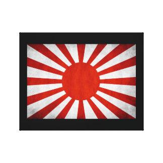 Bandera japonesa del sol naciente impresión en tela
