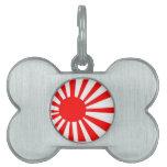Bandera japonesa del sol naciente placa mascota