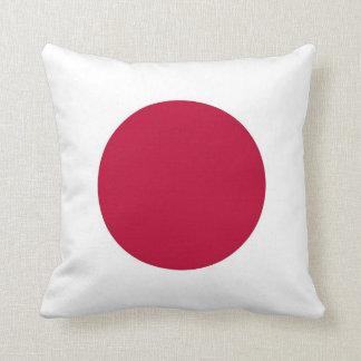 Bandera japonesa en la almohada de MoJo del americ