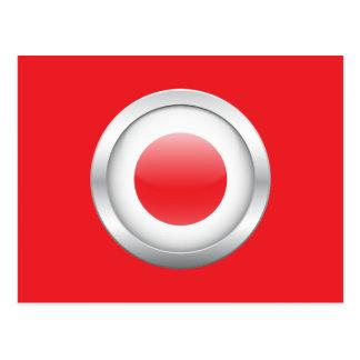 Bandera japonesa en orbe postales