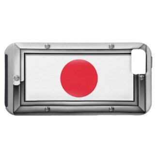 Bandera japonesa en un marco de acero funda para iPhone SE/5/5s