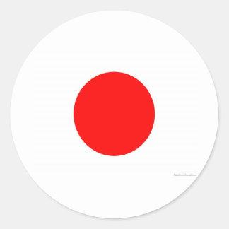 Bandera japonesa etiquetas redondas