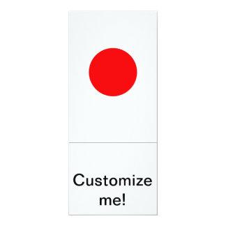 """Bandera japonesa invitación 4"""" x 9.25"""""""