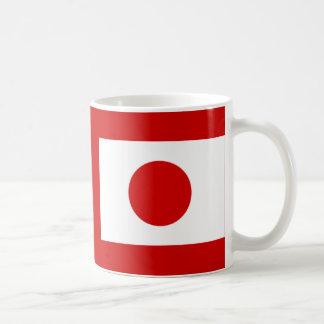 Bandera japonesa taza