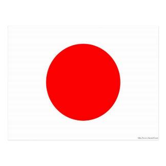 Bandera japonesa postal