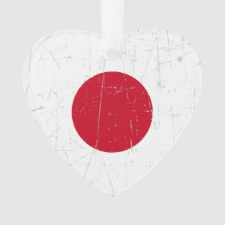 Bandera japonesa rascada y rasguñada