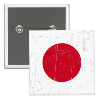 Bandera japonesa rascada y rasguñada pin