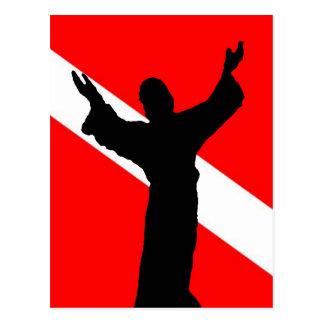 Bandera Jesús de la zambullida Postal